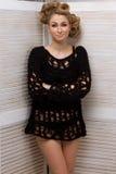 Modefrau mit schönem Make-up Stockfotografie