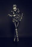 Modefrau mit Schwarzem bilden Stockbilder