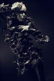 Modefrau mit Schwarzem bilden Lizenzfreie Stockbilder