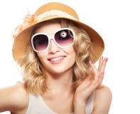 Modefrauenporträt stockfoto