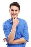 Młodego człowieka ono uśmiecha się Zdjęcie Royalty Free