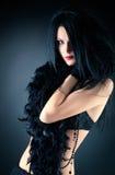 modegothkvinna arkivfoton
