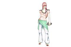 modehöftmodell stock illustrationer
