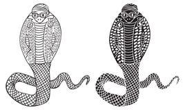 Modeillustration av kobraormen Arkivfoton