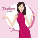 Modekvinna. stock illustrationer