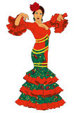 Modekvinna i klänning royaltyfri illustrationer
