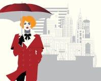 Modekvinna i stilpopkonst ocks? vektor f?r coreldrawillustration vektor illustrationer