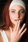 modekvinnligmodell Arkivfoto
