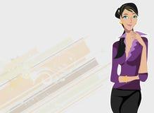 modekvinnligmodell royaltyfri illustrationer