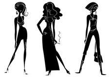 modekvinnor Arkivfoton