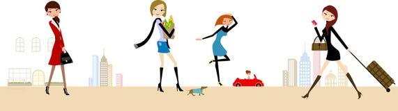 modekvinnor stock illustrationer