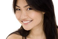 Model 3. A beautiful young asian model on white Royalty Free Stock Images