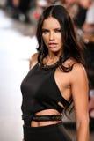 Model Adriana Lima walks Carmen Steffens runway at the FTL Moda SS2016 Stock Image