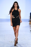 Model Adriana Lima walks Carmen Steffens runway at the FTL Moda SS2016 Stock Photos