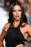 Model Adriana Lima walks Carmen Steffens runway at the FTL Moda SS2016 Royalty Free Stock Photos