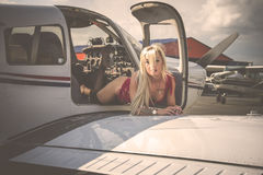 Model in aerodrome Royalty Free Stock Images