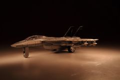 Model of air fighter in the night Royalty Free Stock Image