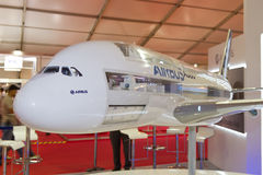 Model of Airbus A380 Stock Photography
