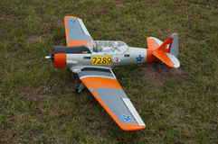 Harvard model aircraft at an Airshow in Port Eliza Stock Images