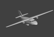 Model aircraft in 3D. Stock Images