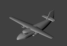 Model aircraft in 3D. Royalty Free Stock Images