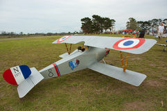 Sopwith Camel model aircraft South Africa. The Port Elizabeth Radio Flyers held a model aircraft show at their club in Port Elizabeth, South Africa, in May. www Royalty Free Stock Photography