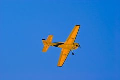 Model airplane. Against the sky Stock Images
