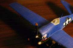Model Airplane 2. Model airplane of a world war II bomber Stock Images