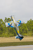 Model Airplane Doing A Tail Stand Royalty Free Stock Photography