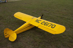 Piper Cub model airplane show Stock Images