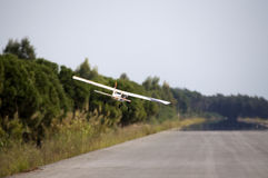 A model airplane stunt plane spinning. Model: tri 60 Royalty Free Stock Photography