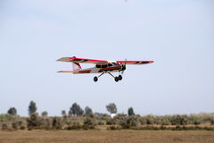 A model airplane stunt plane spinning. Model: tri 60 Royalty Free Stock Photo