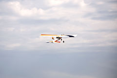 Model airplane stunt plane spinning Royalty Free Stock Images