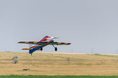 Model airplane takeoff Stock Images