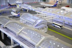 Model of airport Stock Images