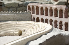 Model of the ancient amphitheater, Plovdiv Stock Images