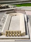 Model of the ancient amphitheater, Plovdiv Royalty Free Stock Photo