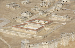 Model of Ancient Jerusalem Focusing on the Pool of Bethesda Royalty Free Stock Image