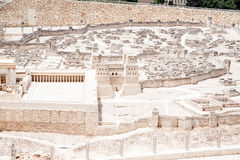 Model of ancient Jerusalem Stock Photos