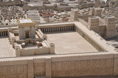 Model of ancient Jerusalem Temple Stock Photos