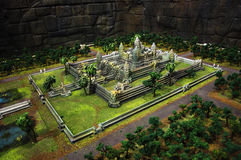 Model of Angkor Wat in expo2010 Shanghai Royalty Free Stock Images