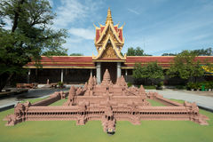Model of Angkor Wat in the SIlver Pagoda Complex, Phnom Penh, Ca Stock Photography