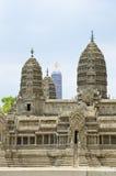 Model Angkor wata atEmerald Buddha świątynia Fotografia Royalty Free