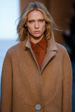 Model Annely Bouma walk the runway at the Derek Lam Fashion Show during MBFW Fall 2015 Stock Images