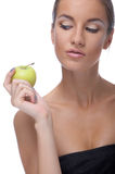 Model with apple Royalty Free Stock Images