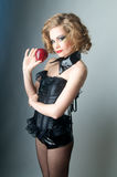 Model with apple Royalty Free Stock Photos
