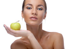 Model with apple Stock Photography