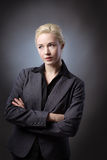 Model with arms folded Royalty Free Stock Photo