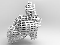 Model of artificial  heart Royalty Free Stock Image