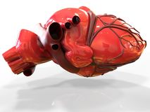 Model of artificial human heart 3d rendering Royalty Free Stock Photography